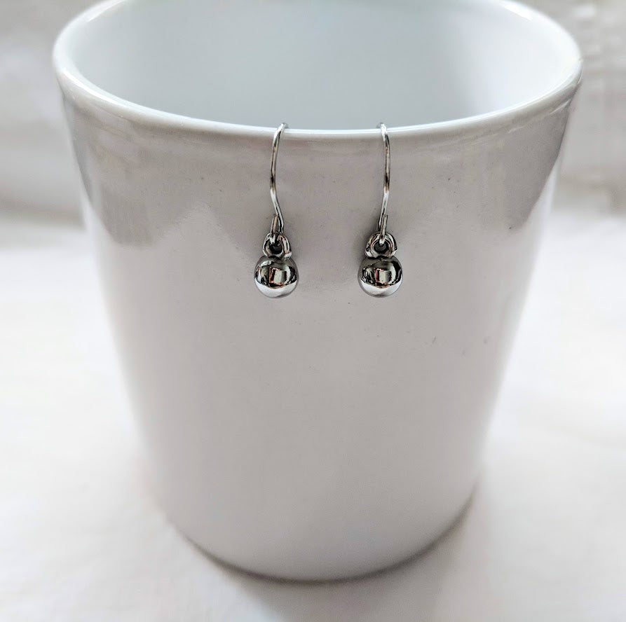 Silver ball earrings | Silver Earrings | Ball drops | minimalist Jewelry