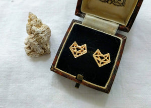Fox Studs | Geometric Fox Studs | Foxy Lady Earrings
