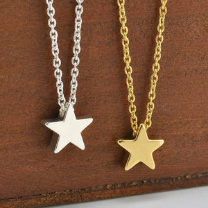 Star Necklace | Tiny Star Necklace | Silver Necklace | Gold Necklace | Gift