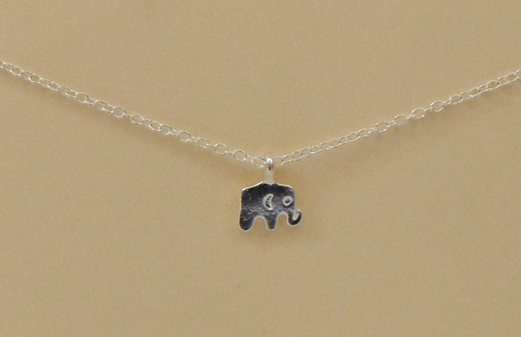Elephant Necklace | Animal Necklace | Symbol of Good Luck | Silver Necklace | Animal Lover | Elephant Lover