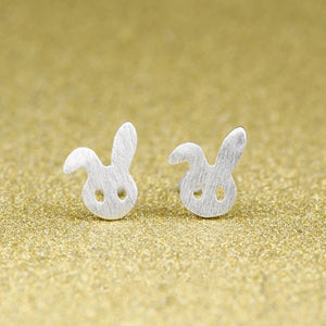 Rabbit Earrings | Bunny Studs | Silver Bunny Rabbit stud Earrings
