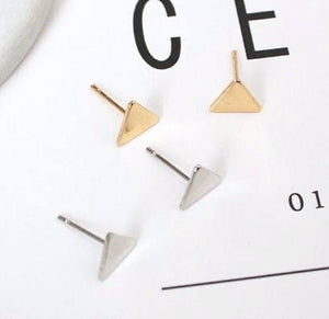 Triangle earrings | triangle studs | Stud Earrings | Silver Studs | Gold Studs | Geometric studs