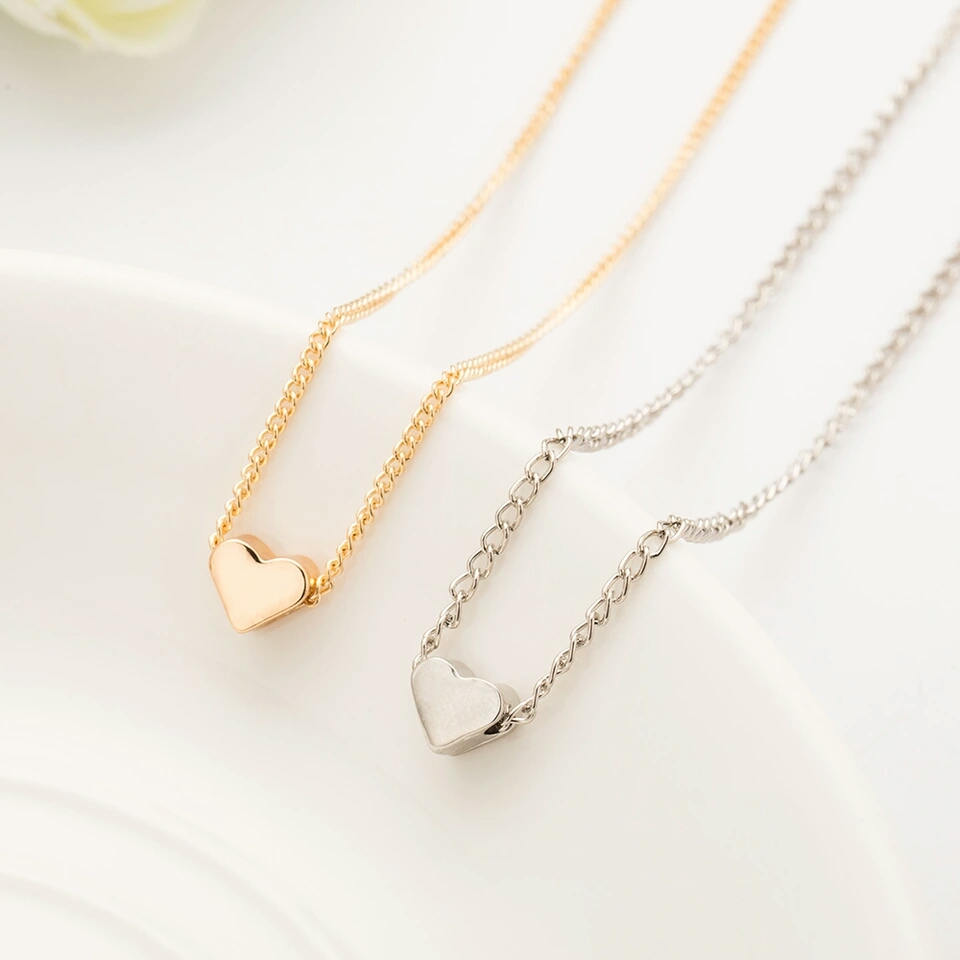 Heart Necklace | Tiny Heart Necklace | Silver Necklace | Gold Necklace | Gift | Symbol of Love