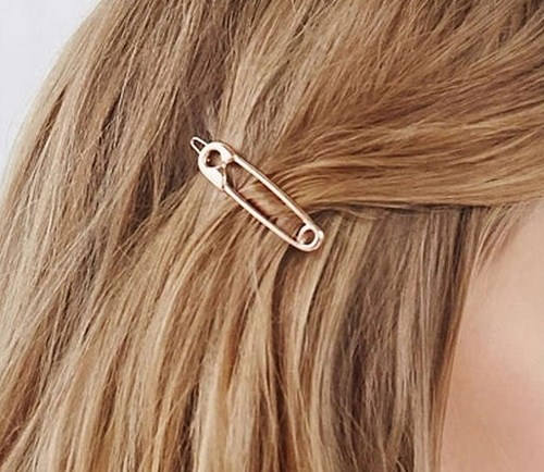 Hair clip | Safety pin hair clip | hair barrette | Hair accessory
