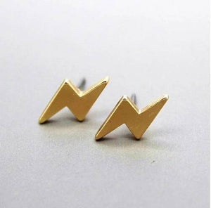Lightning Bolt stud earrings | Stud Earrings | Silver Studs