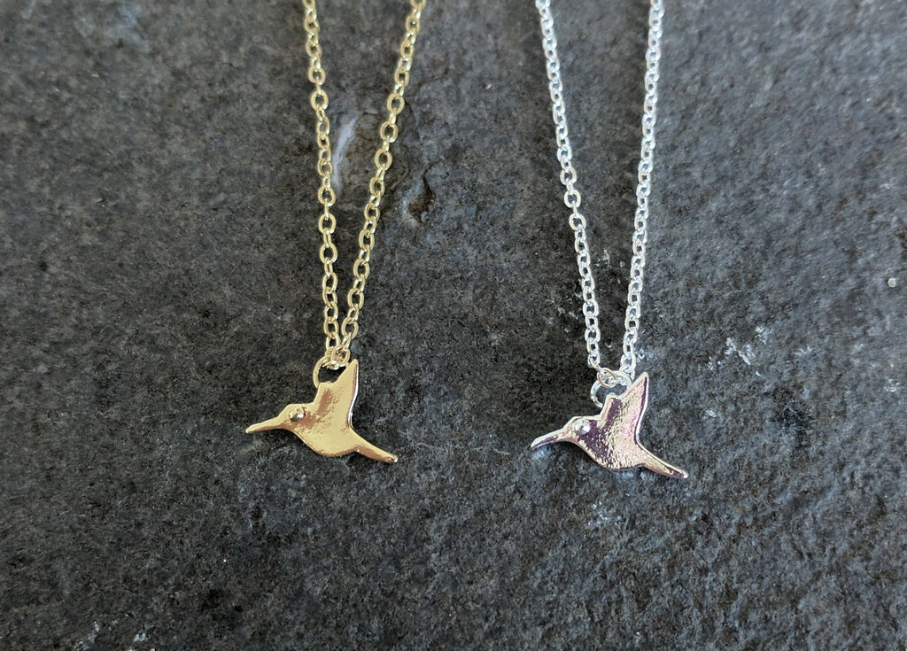Hummingbird Necklace | Hummingbird pendant Necklace | Delicate Charm Necklace