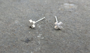 Cross Earrings | Cross studs | Silver Crosses | Silver Studs