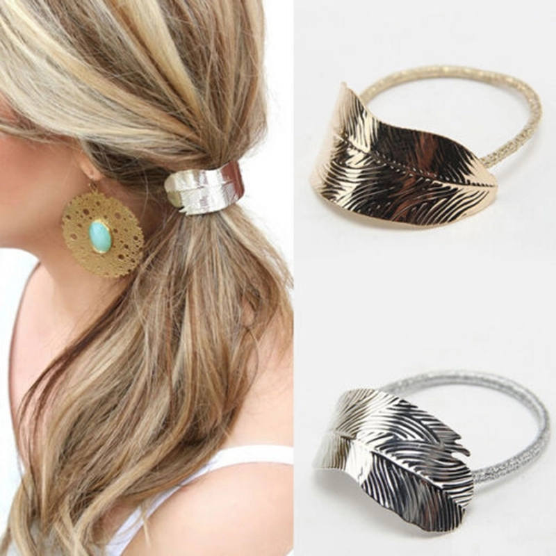 Leaf Hair tie | Metal Hair accessory