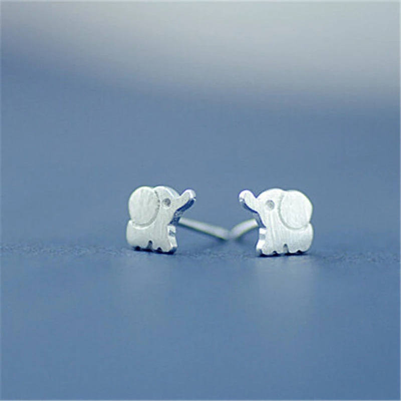 Elephant Earrings | Elephant Studs | Silver Elephant Jewelry