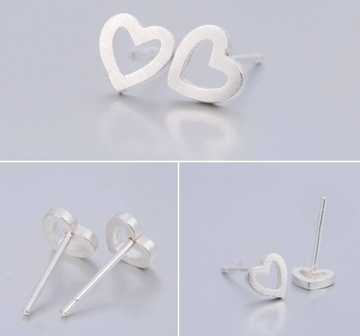 Heart Earrings | Love Heart earrings | Tiny studs | Dainty silver Earrings