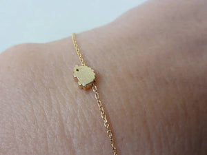 Hedgehog Bracelet | Mini Hedgehog Bracelet | Animal Bracelet | Silver and Gold