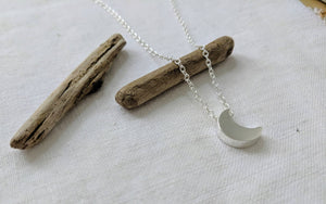 Moon Necklace | Love you to the Moon and back | Silver Necklace | Gold Necklace | Gift