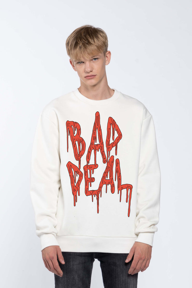 BLOOD KETCHUP WHITE - SWEATSHIRT