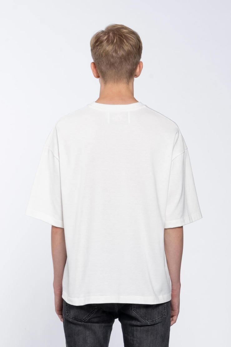 BLOOD LIME WHITE - BOX TEE