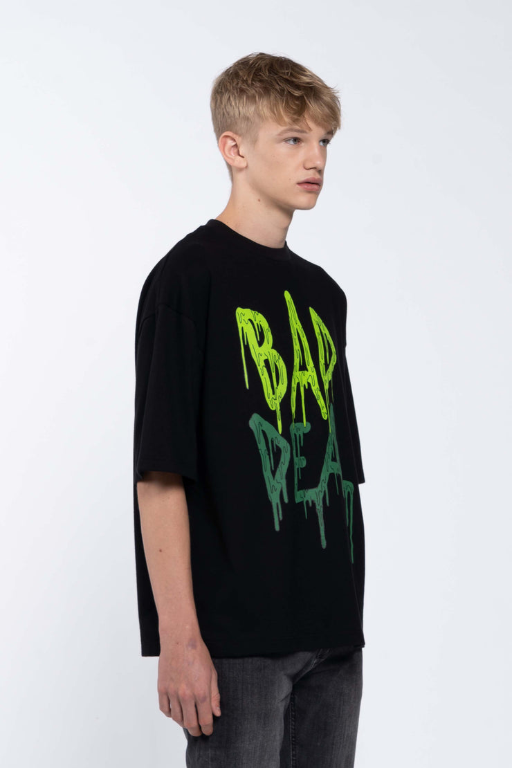 BLOOD LIME BLACK - BOX TEE