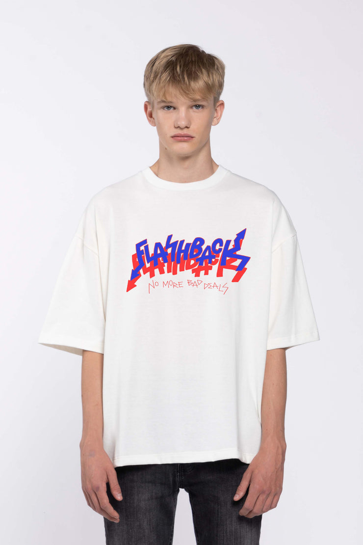FLASHBACK WHITE - BOX TEE