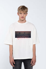 SKYLINE WHITE - BOX TEE
