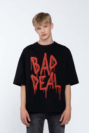 BLOOD KETCHUP BLACK- BOX TEE
