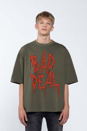 BLOOD KETCHUP GREEN- BOX TEE