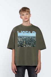 WORLD GREEN- BOX TEE