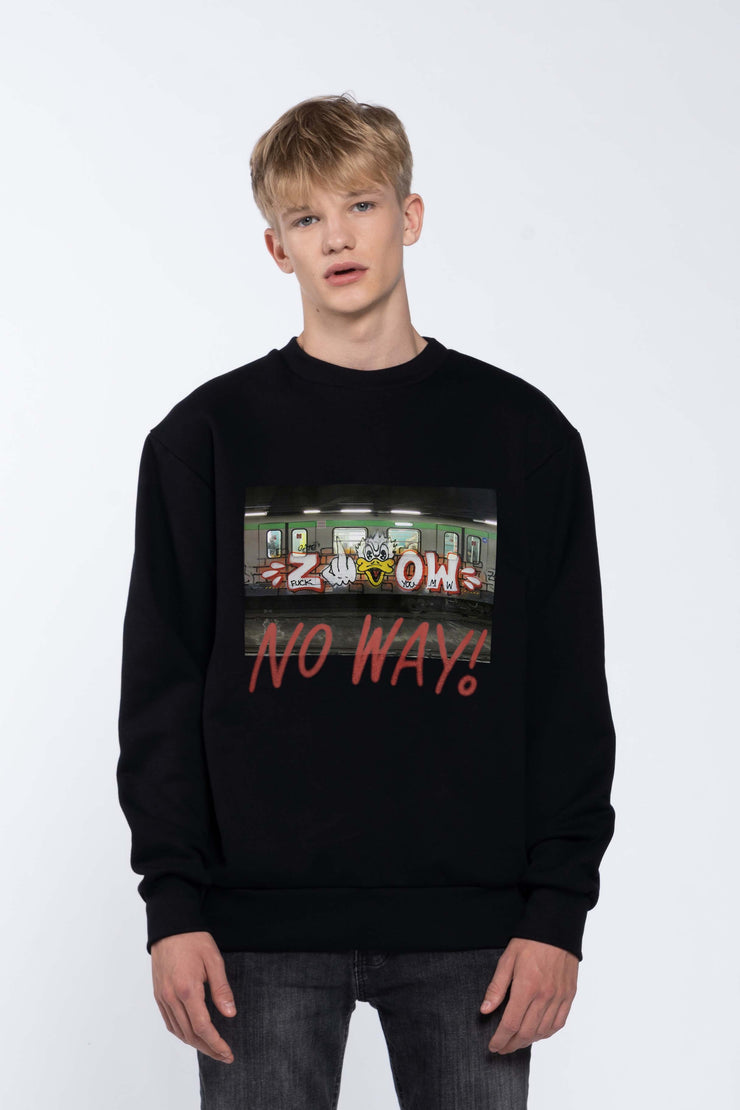 NO WAY BLACK - SWEATSHIRT
