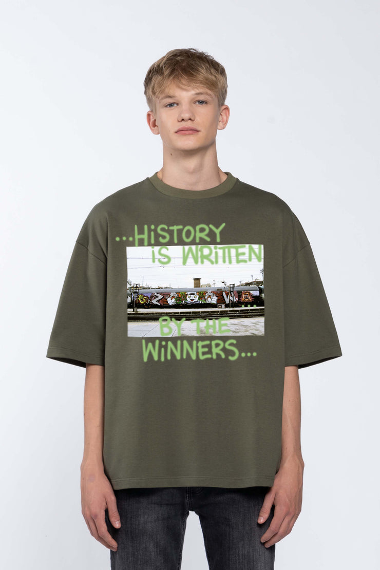 WINNERS GREEN- BOX TEE