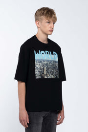WORLD BLACK - BOX TEE