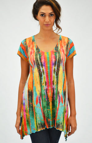 b8e0d5f8518 Womens long tunic top by Amma, made in America