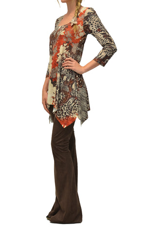 9db345c2096 Coral Rose womens tunic by Amma Design, side view