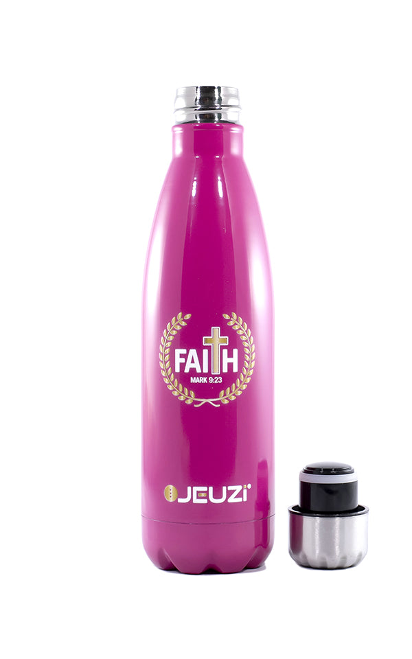 Best insulated water bottle LOVED. Keep your drinks cold and hot for hours. Find your today at JEUZi.com | Remember this do not lose Faith. GOD Bless you