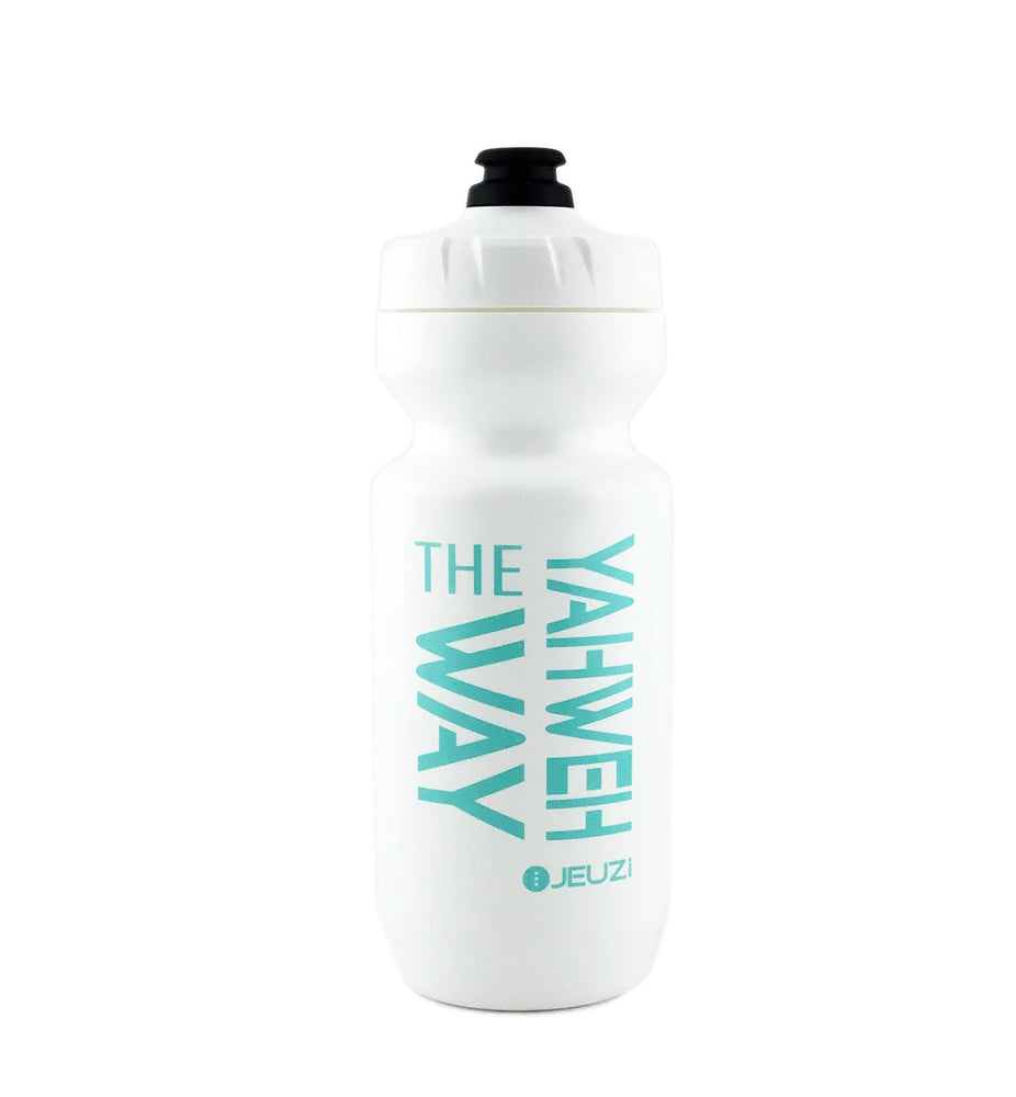 YAHWEH THE WAY Sport & Bike Water bottles. Cotton White Purist 22oz