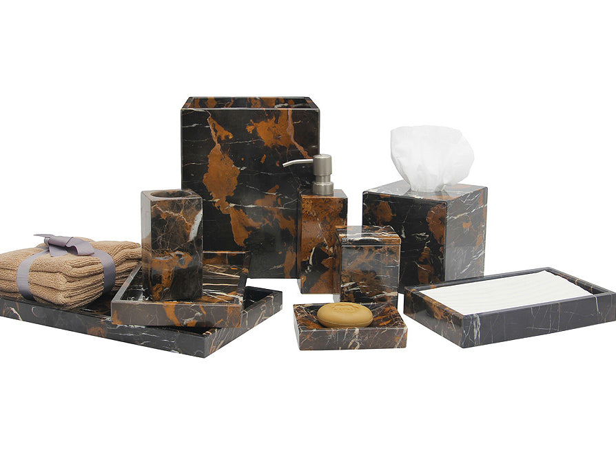 Myrtus Collection Black & Gold Marble