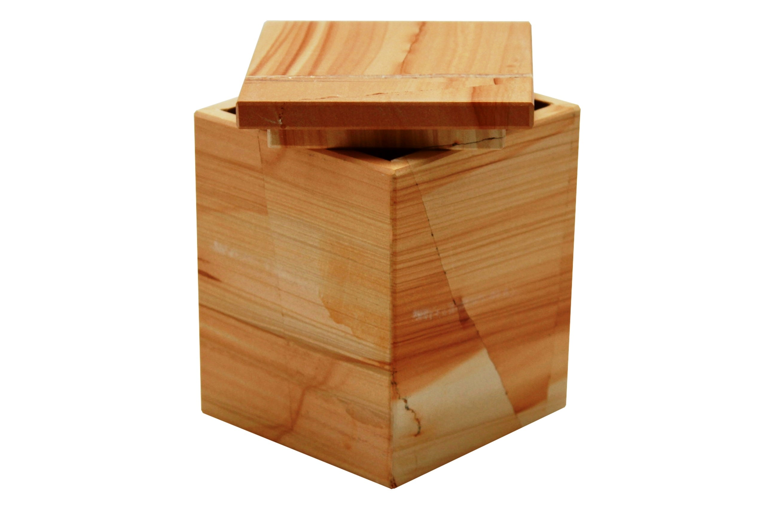 Myrtus Collection Teak Stone Canister