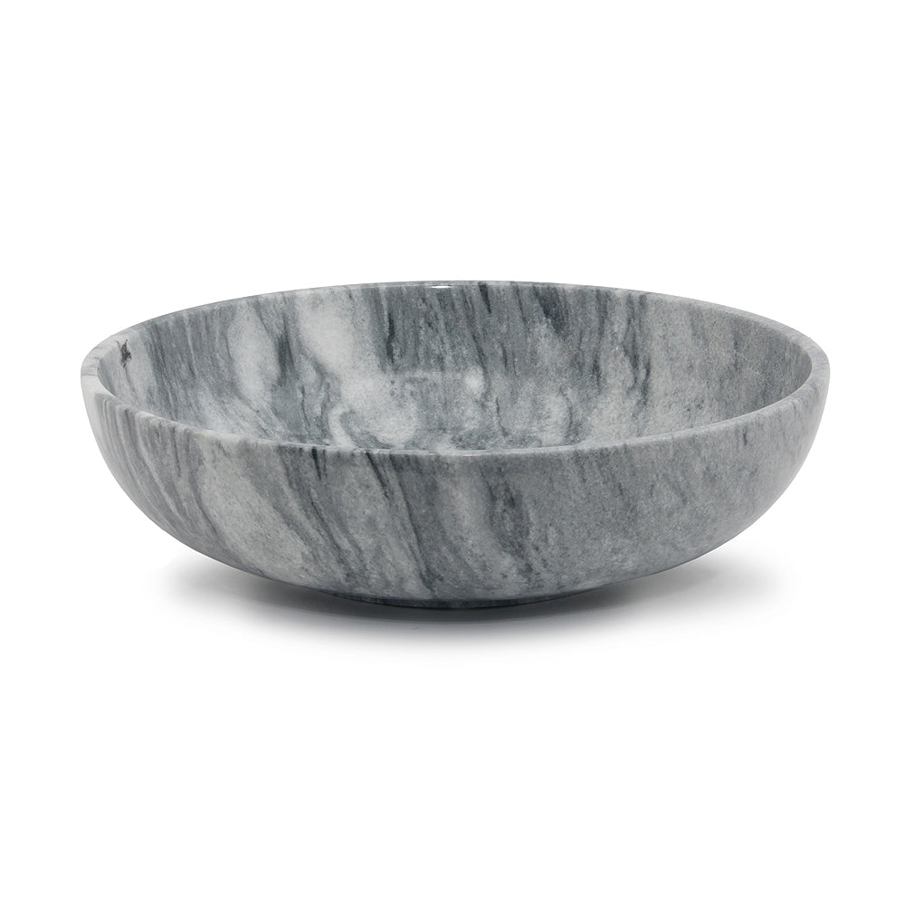 "Laurus Collection 16"" Cloud Gray Marble Bowl"