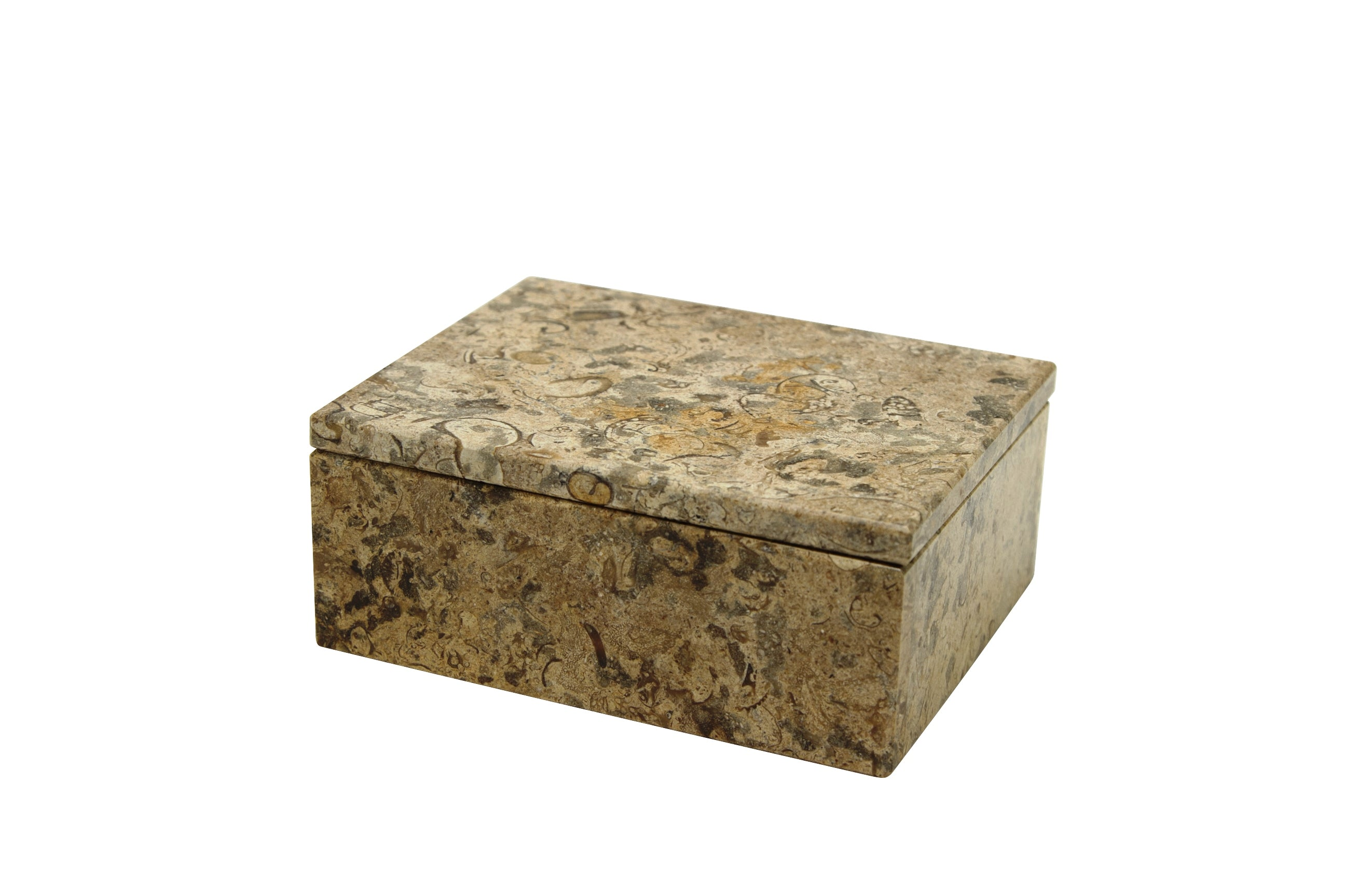 "Asteria Collection 5"" Fossil Stone Rectangular Keepsake Box"