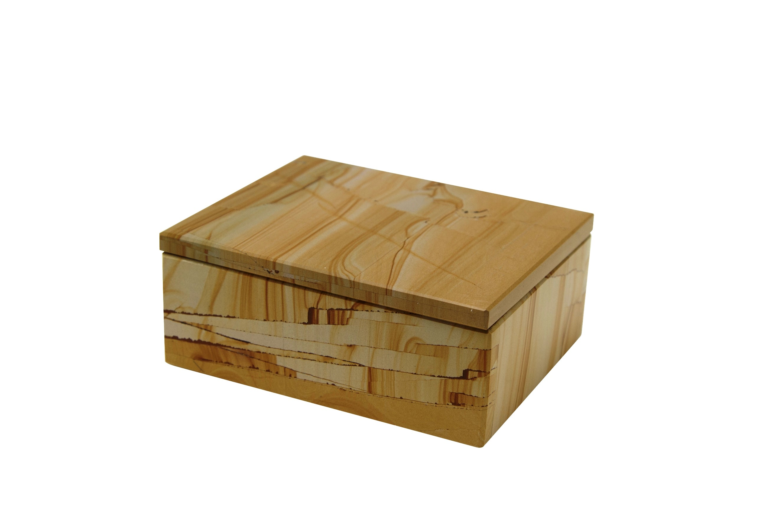 "Asteria Collection 5"" Teak Stone Rectangular Keepsake Box"