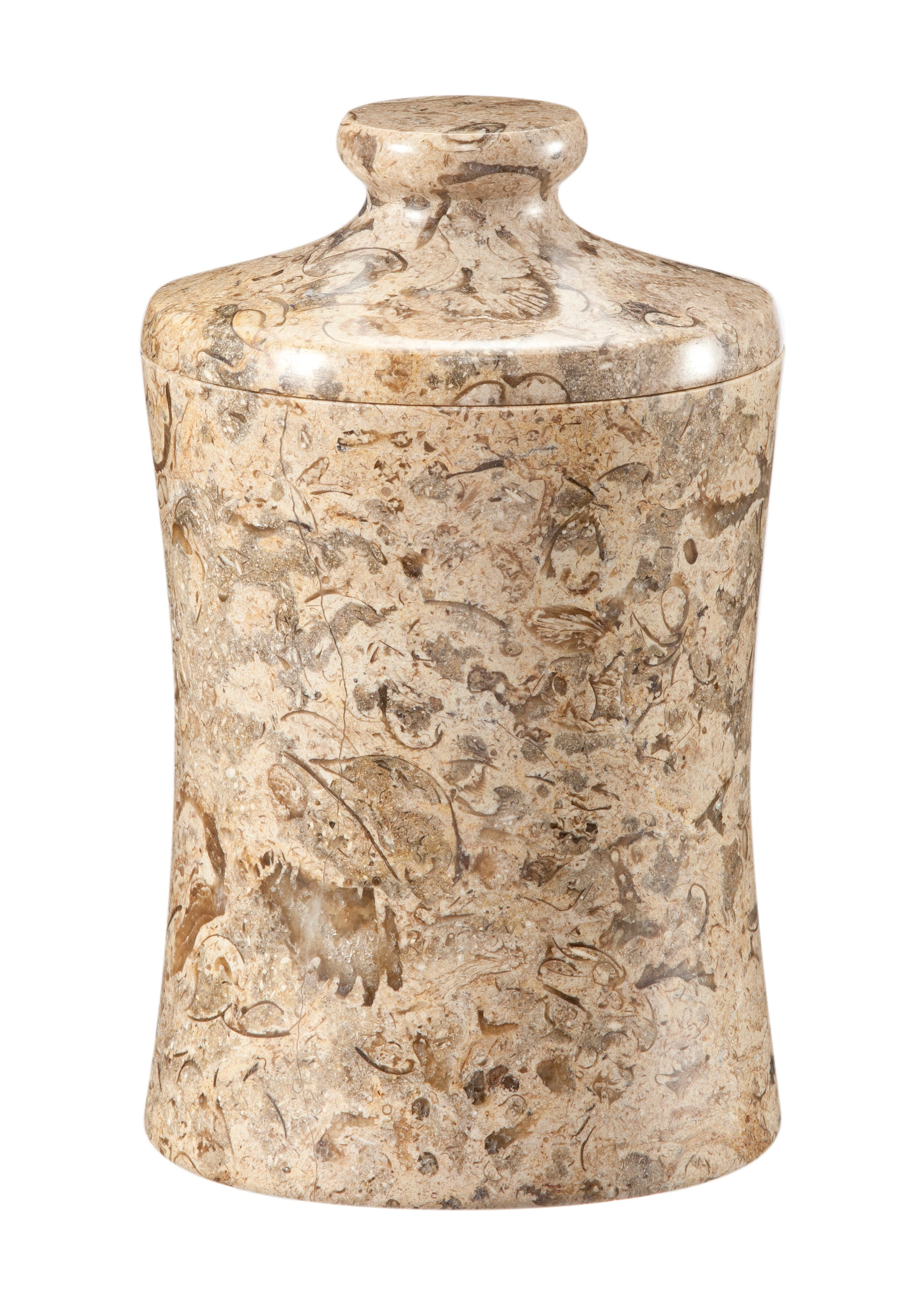 "Vinca Collection 3"" x 5"" Fossil Stone Canister"