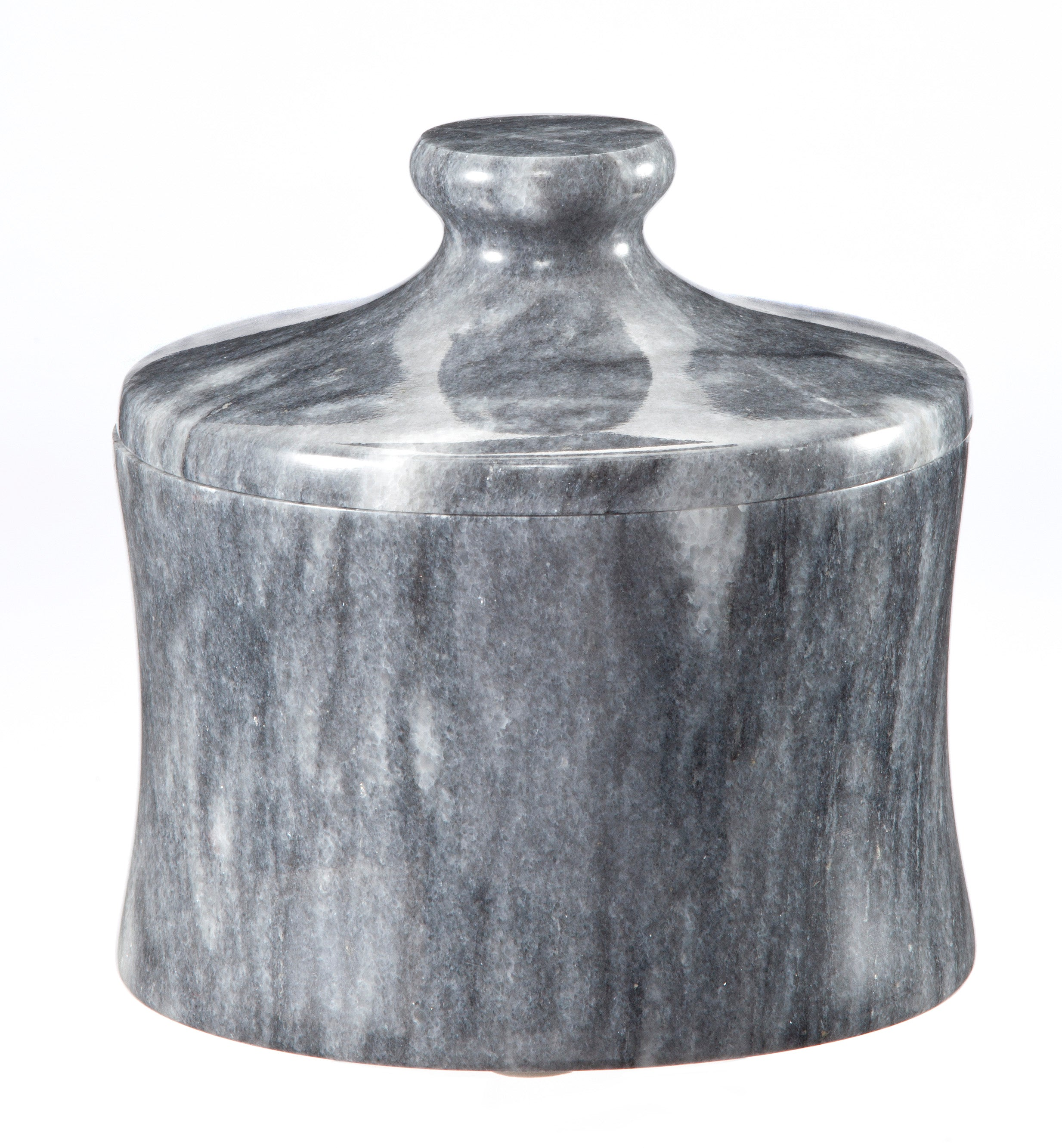 "Vinca Collection 4"" x 4"" Cloud Gray Marble Canister"