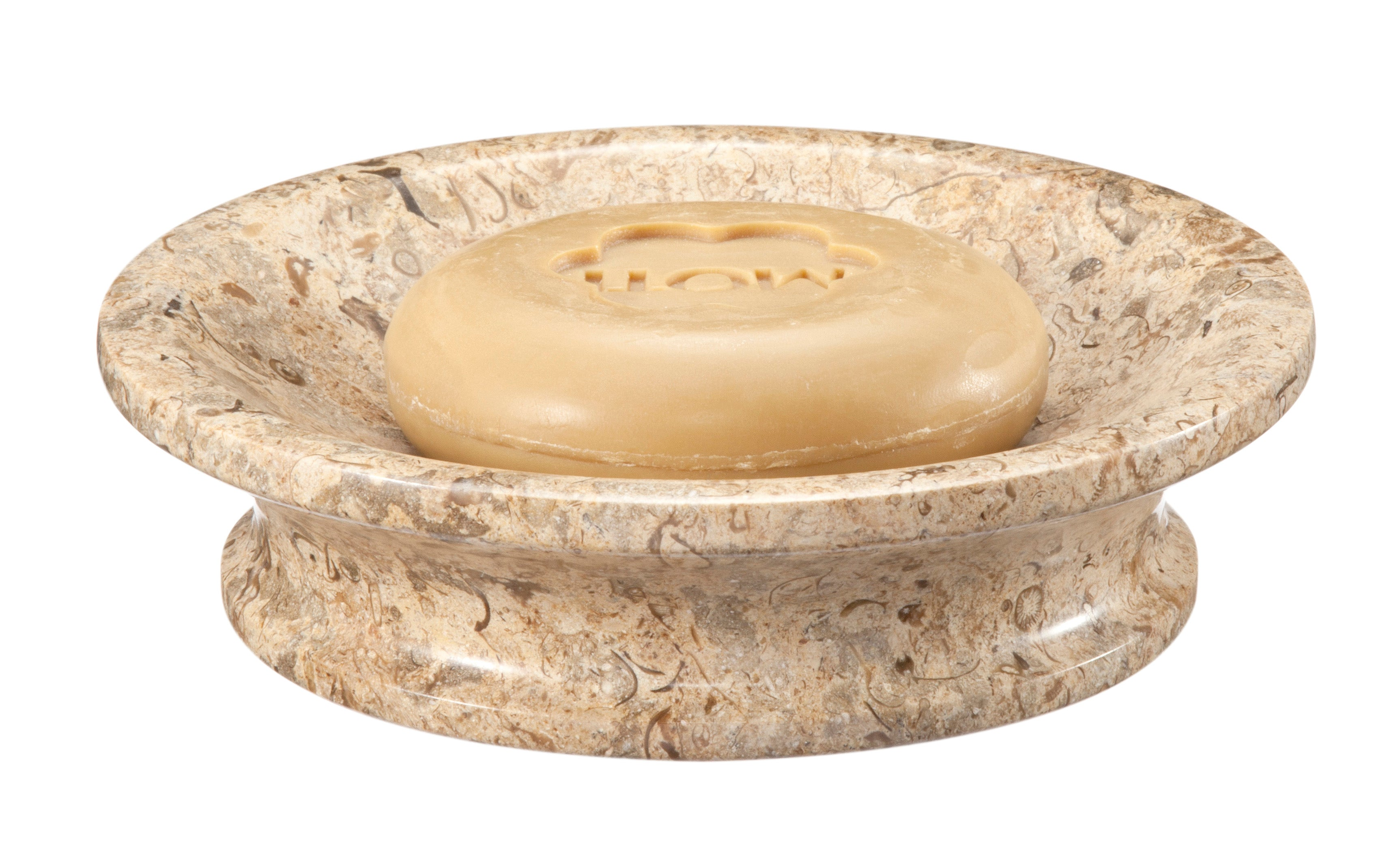 Vinca Collection Fossil Stone Soap Dish