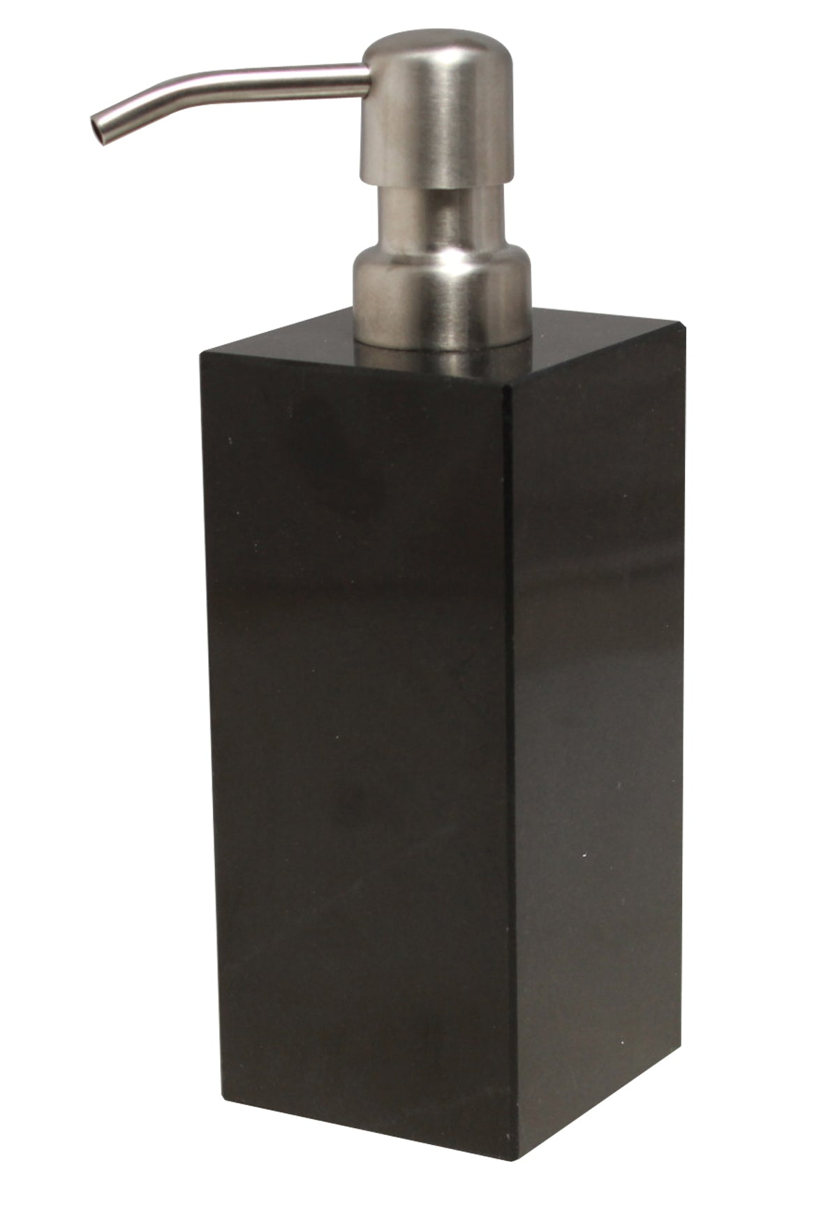 Myrtus Collection Jet Black Marble Soap Dispenser