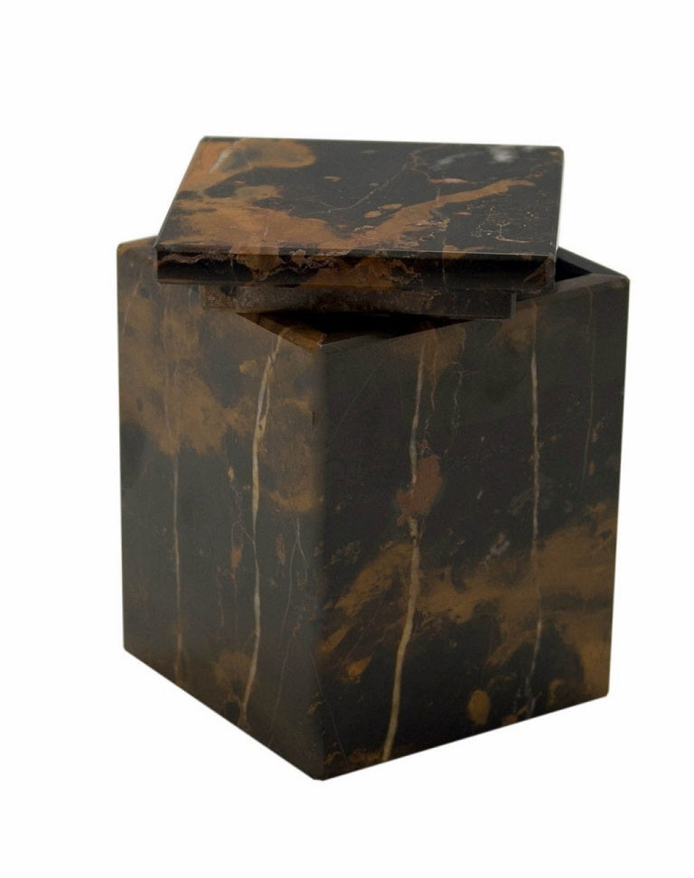 Myrtus Collection Black & Gold Marble Canister