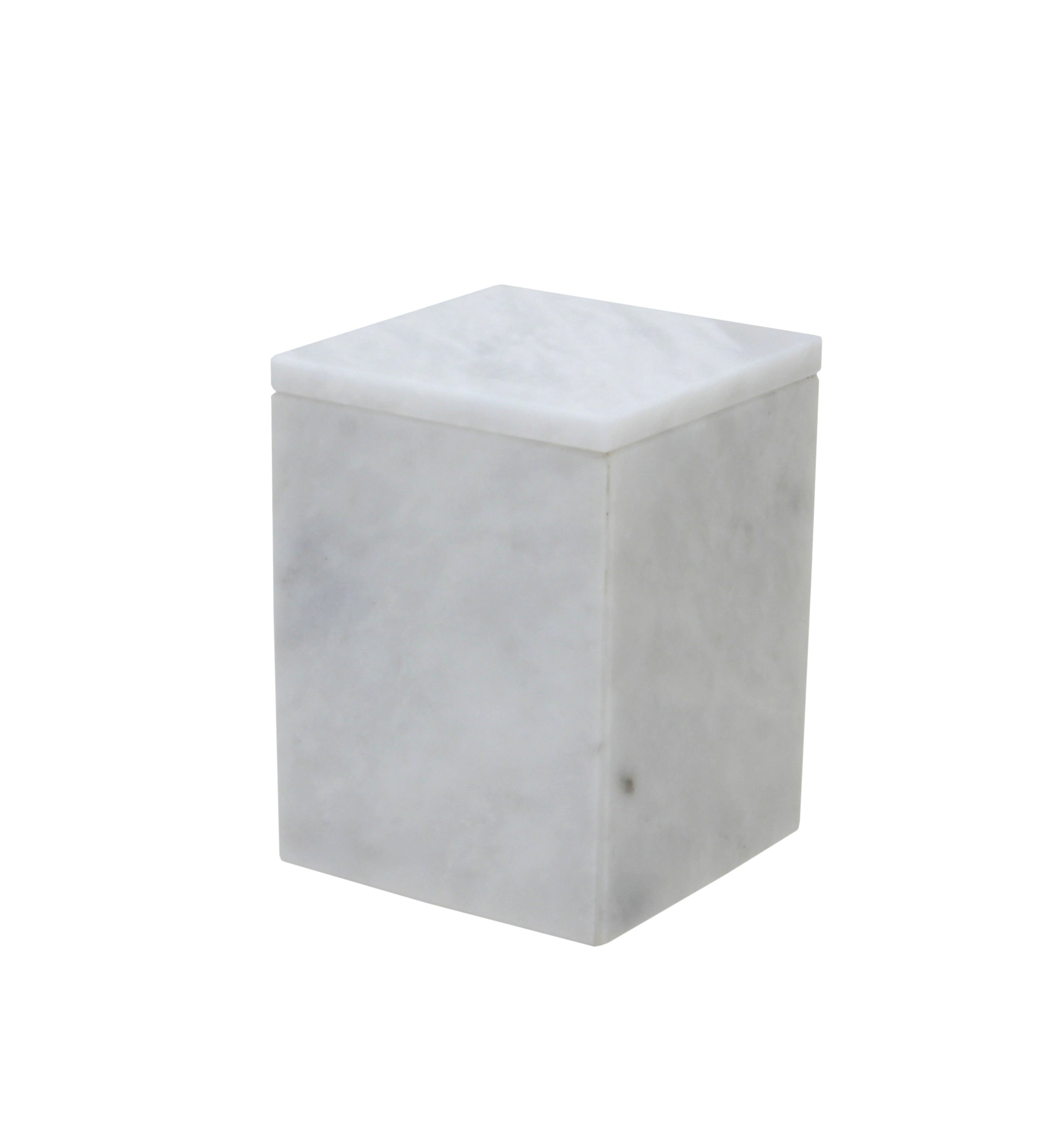 Myrtus Collection Pearl White Marble Canister