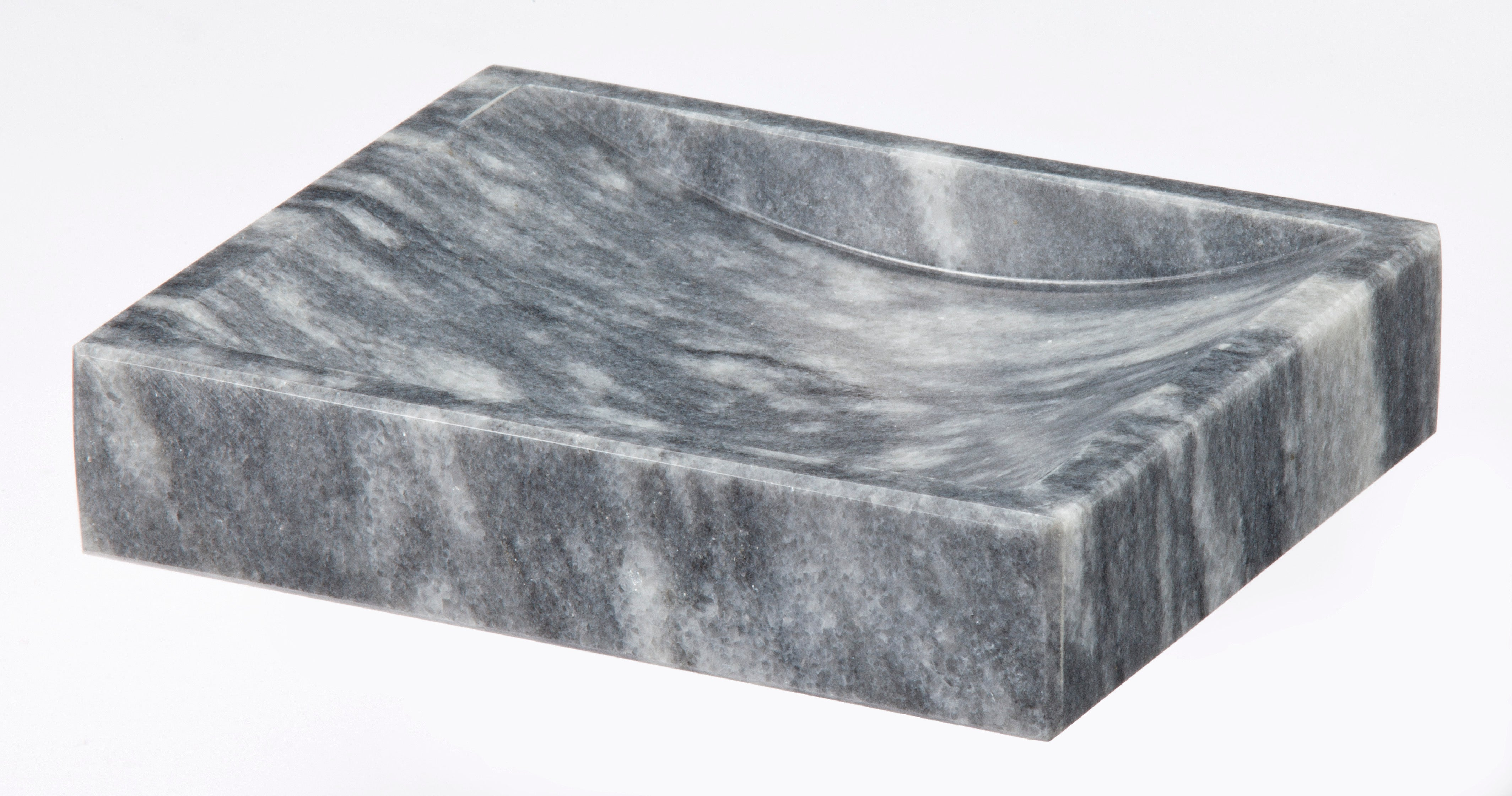 Myrtus Collection Cloud Gray Marble Soap Dish