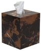Myrtus Collection Black & Gold Marble Tissue Box Holder