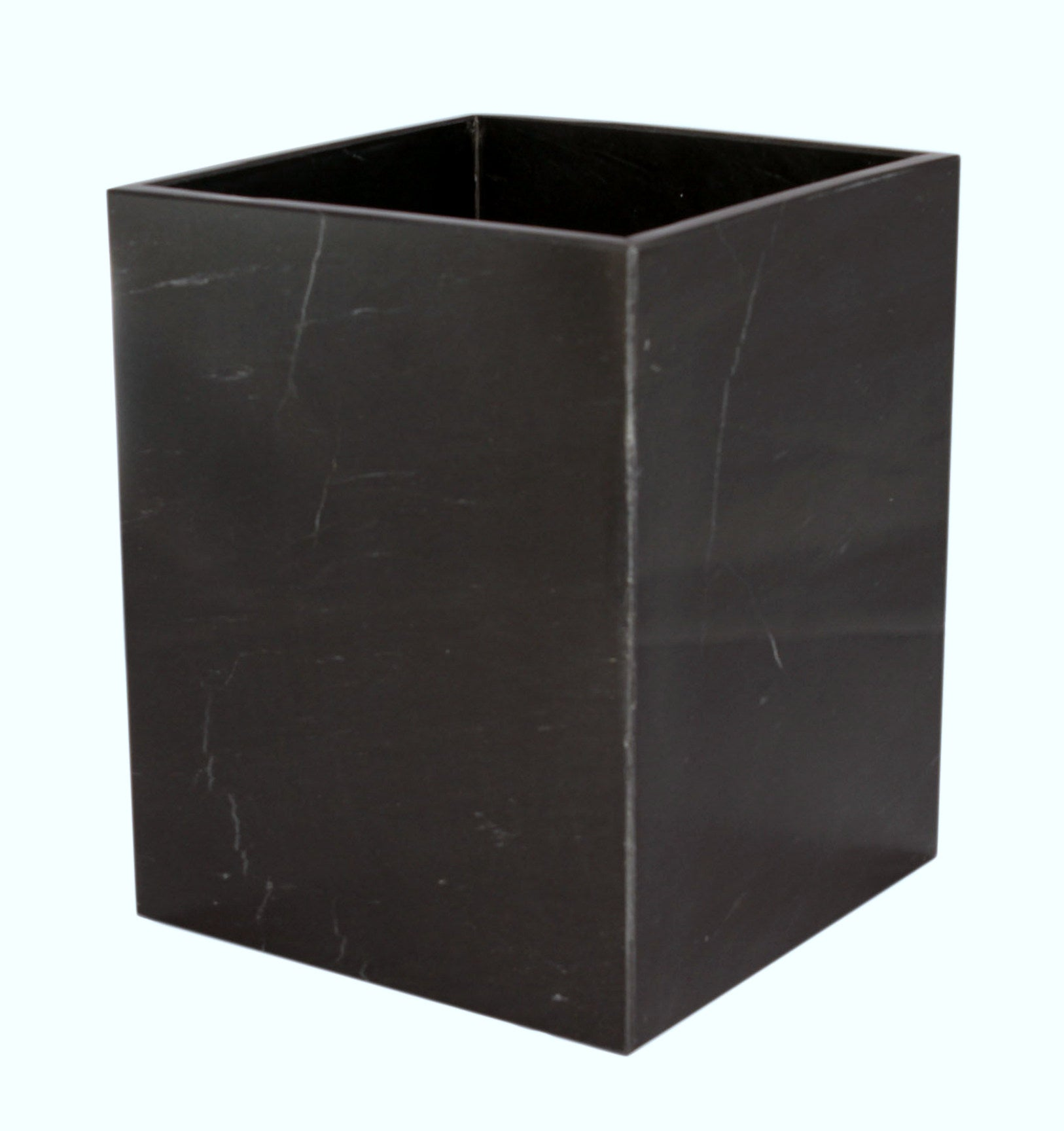 Myrtus Collection Jet Black Marble Waste Bin