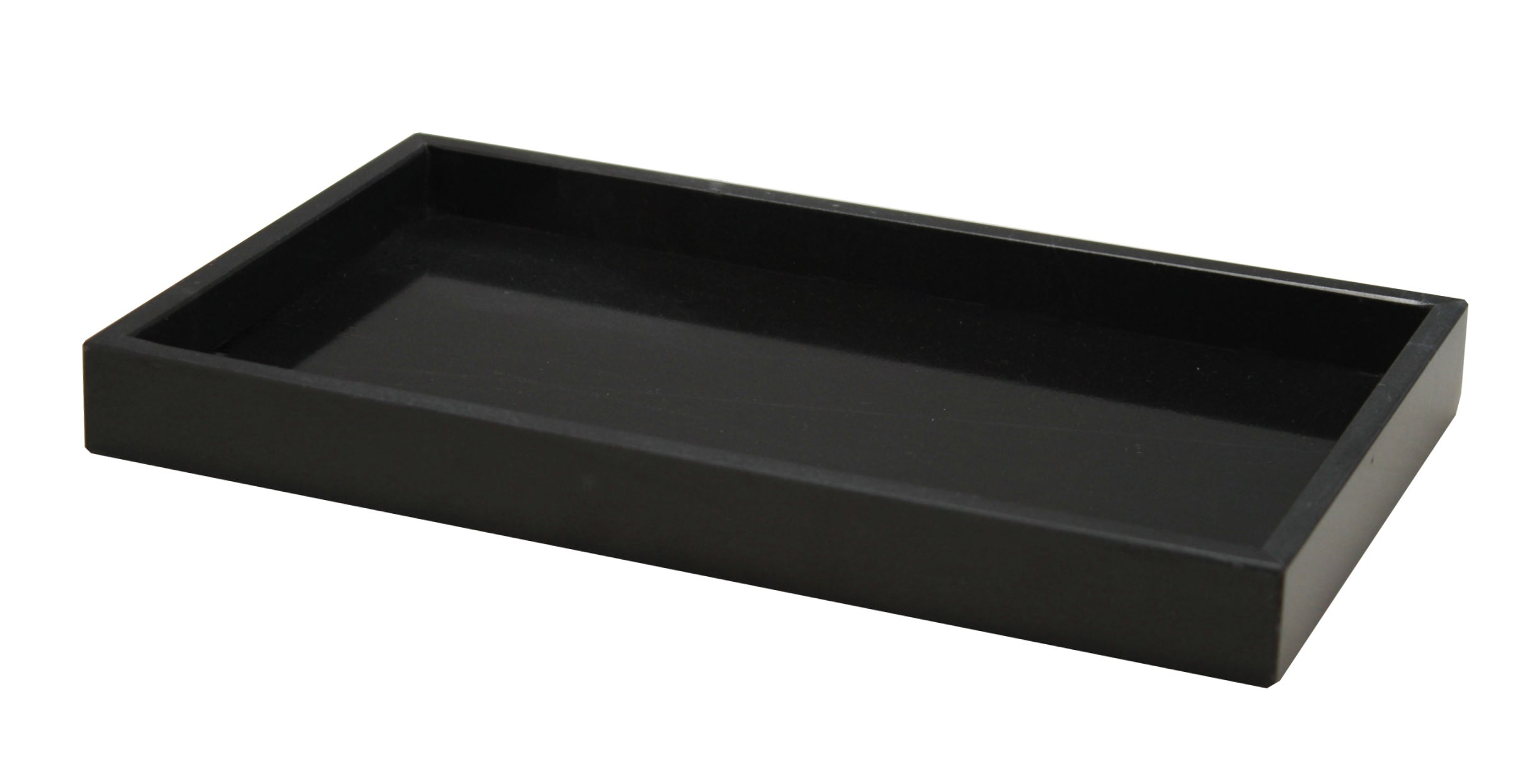 Myrtus Collection Small Jet Black Marble Amenity Tray
