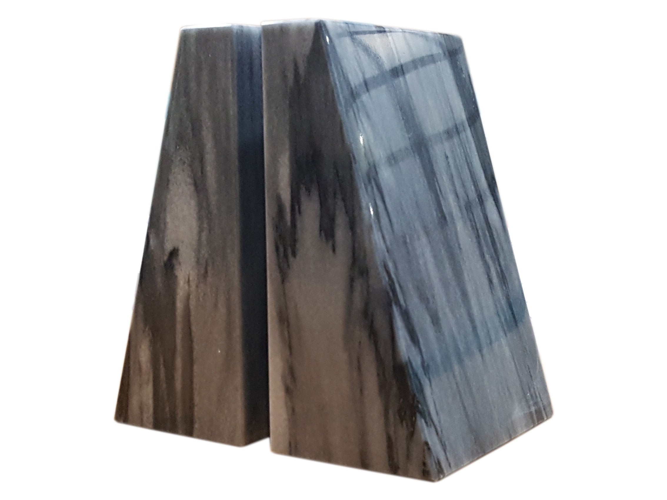 Zeus Collection Cloud Gray Marble Bookends