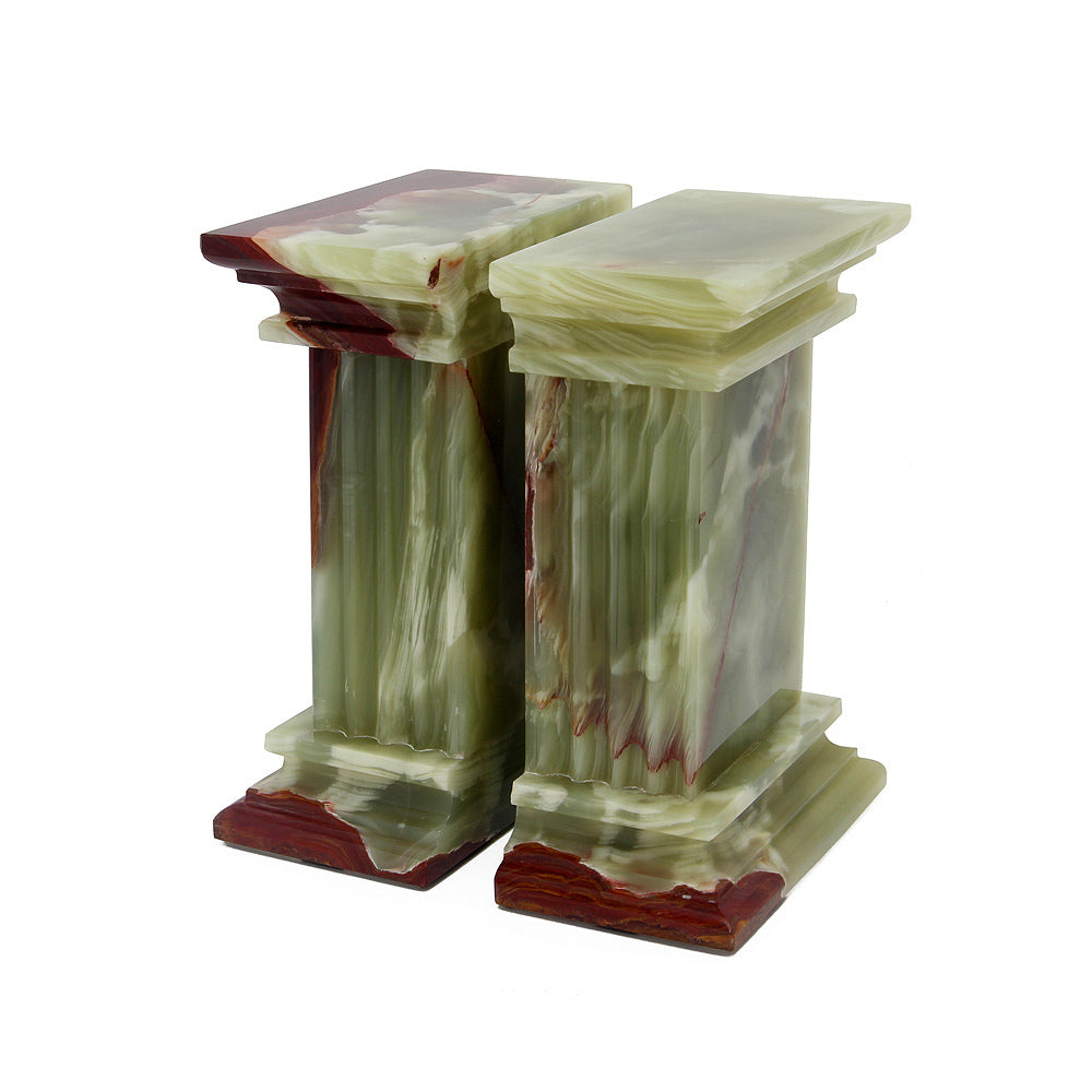 Renaissance Collection Whirl Green Onyx Bookends
