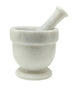 Asclepius Collection Large Pearl White Marble Mortar & Pestle Set