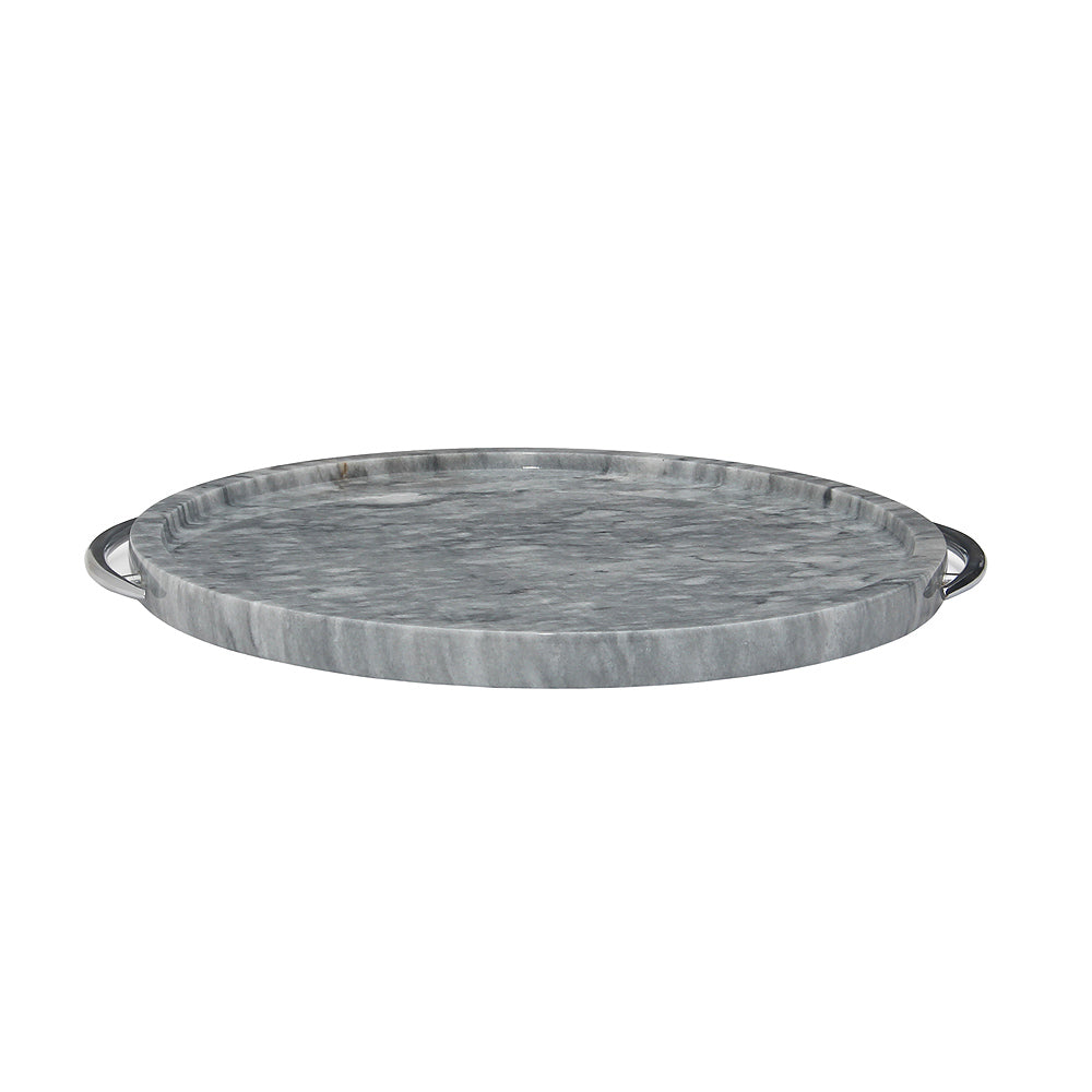 "12"" Cloud Gray Marble Tray"